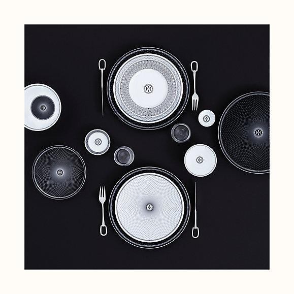 la table kollektion hermes edles tischgedeck schwarz weiß